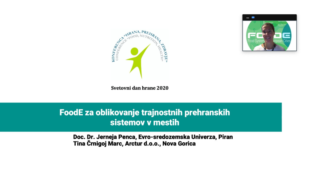 Introducing FoodE to Slovenian public at a national event celebrating the World Food Day